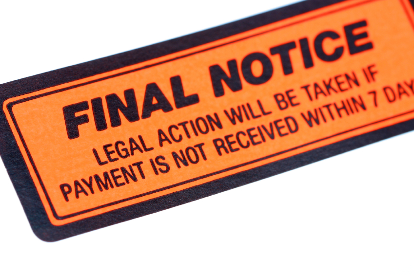 debt-final notice image for blog